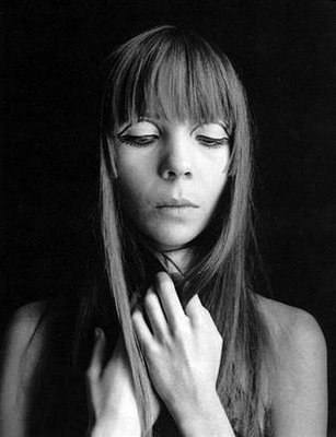 60s top fashion model penelope tree close up portrait