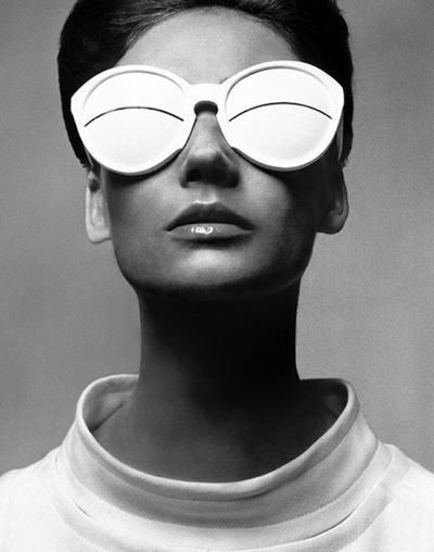 the futuristic style shades of fashion designer André Courrèges
