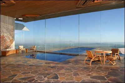 John lautner house architecture pool view over the city