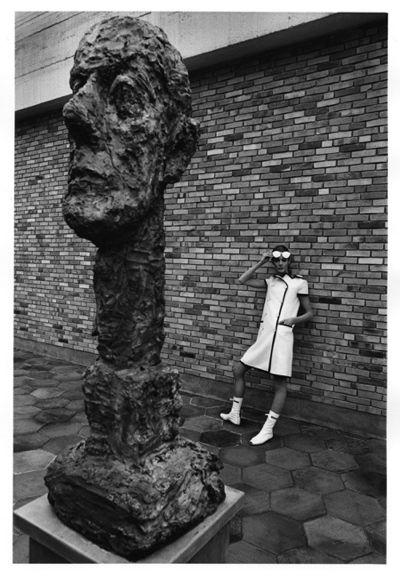 André Courrèges  model sculpture