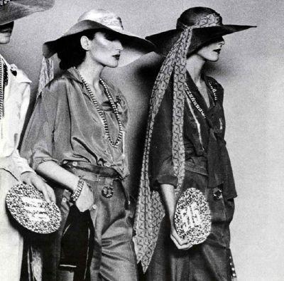 fashion models wearing biba brand designed by Barbara Hulanicki