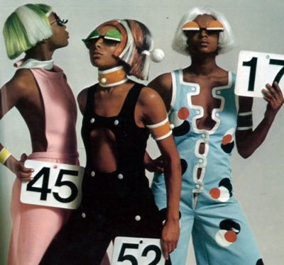 André Courrèges cat walk models