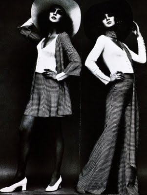 fashion model wearing biba brand designed by Barbara Hulanicki
