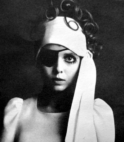 fashion model wearing biba brand designed by Barbara Hulanicki