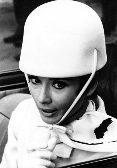 "The hat that Audrey Herpburn ""How to Steal a Million"", 1965, true inspiration for designer André Courrèges."