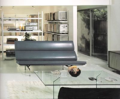 interior,pierre koenig living room with sofa
