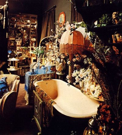 Bath display in Art Deco-style Big Biba store, 1970s