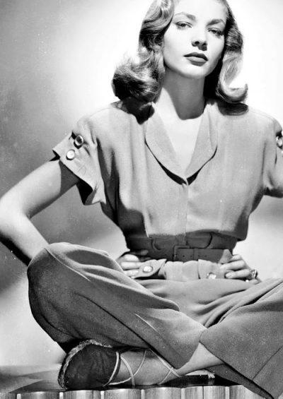 Lauren Bacall alpargatas espardilles
