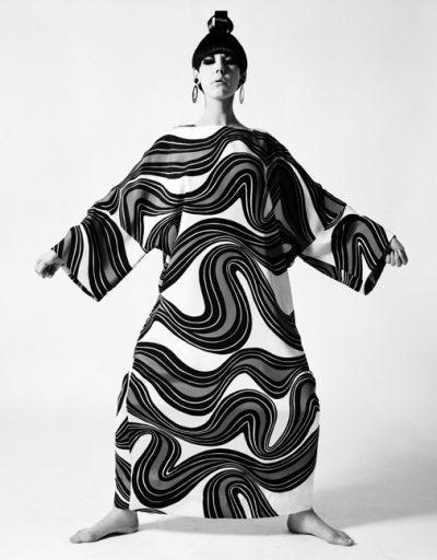 Peggy Moffitt in Sumo Caftan by Rudi Gernreich, New York, 1967