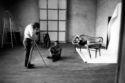 Rudi Gernreich and Peggy Moffitt Being Photographed by Jeanloup Sieff, Paris, 1965