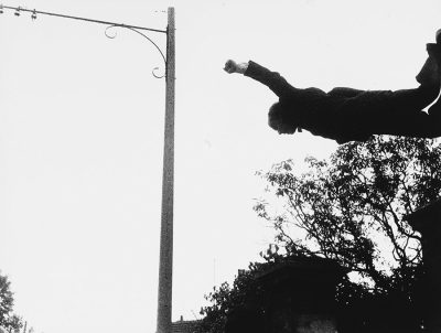 Yves Klein with Harry Shunk, János Kender Leap into the Void