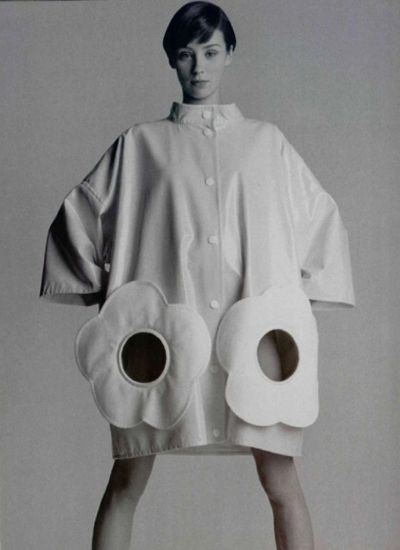 André Courrèges  model flower pockets