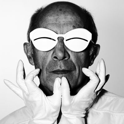 andre-courreges wearing his own designed shades