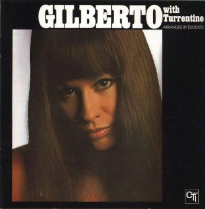 brasilian singer astrud gilberto with turrentine album cover