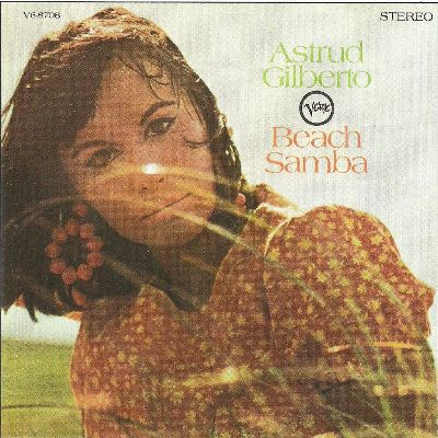 brasilian singer astrud gilberto album cover beach samba