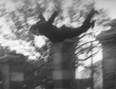 Yves Klein with Harry Shunk, János Kender Leap into the Void 1960