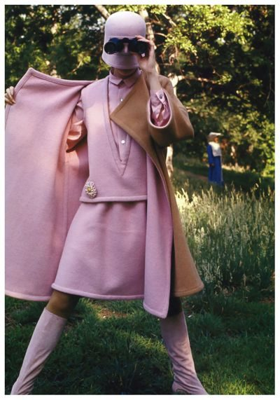 peggy-moffitt-fashion-model-60s In Central Park New York, 1967