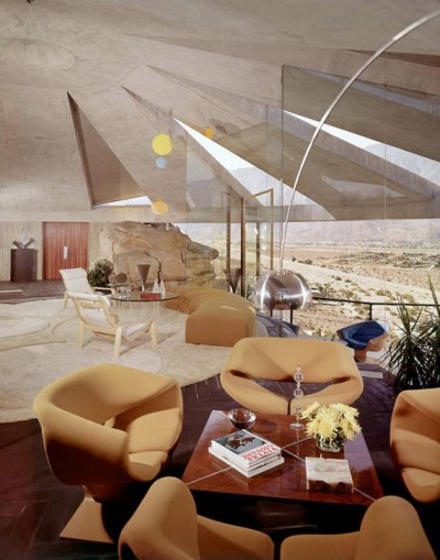John lautner house interior design