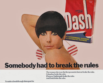 U.K. Peggy Moffitt laundry detergent magazine advertorial