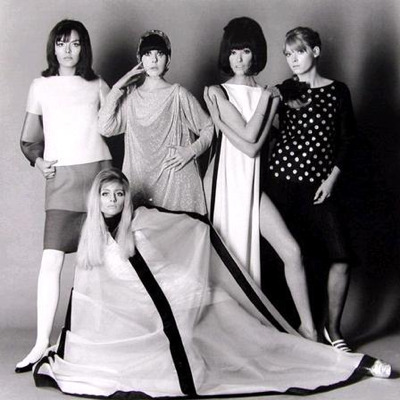 Models Jill Kennington, Peggy Moffitt, Melanie Hampshire, Rosaleen Murray and Ann Norman in the of the film blow up