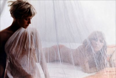 more,1969,pinkfloyd,film,ibiza,girls,bed,mosquito net