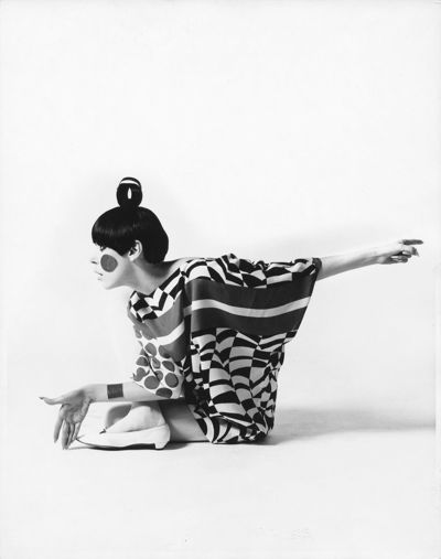 Peggy Moffitt, Kite Dress by Rudi Gernreich, Sitting, 1967