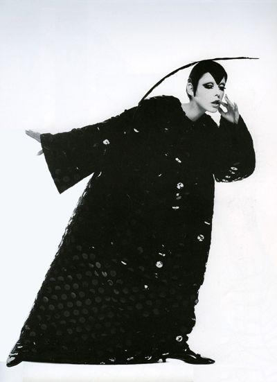 Peggy Moffitt in Rudi Gernreich Sorceress Evening Dress, New York City, 1967.