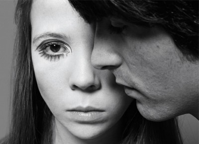 penelope tree close up portrait with male model