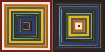 Frank Stella Grey Scrambled Double Square 1964