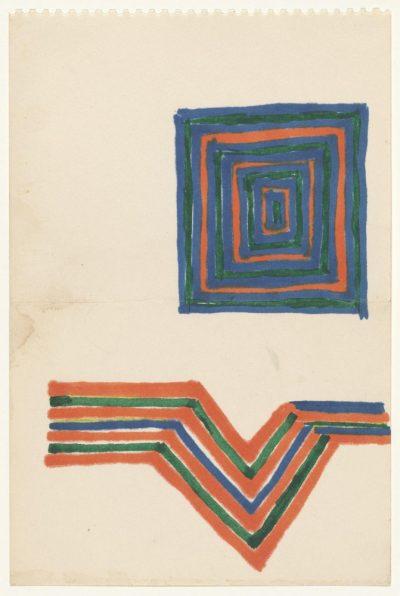 Frank Stella Untitled (1963) sketch
