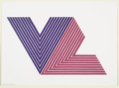 Frank Stella V Series 1968