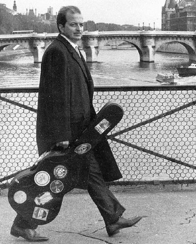 luis bonfa bossa nova composer crossing a bridge in london