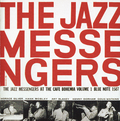 art blakey playing and the jazz messengers at the cafe bohemia album cover