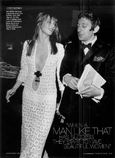 jane birking with serge gainsbourg whitr boho chic style