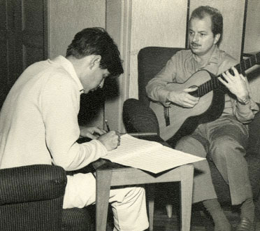 luis bonfa bossa nova composer with jobim playing guitar