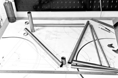 custom made bike blue print urban bike ciclos noviciado