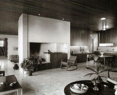 richard neutra interior design kitchen and living room