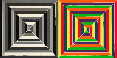 abstract painting by frank stella