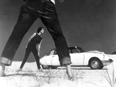CITROËN DS fshion editorial 60s blue jeans vogue magazine summer season
