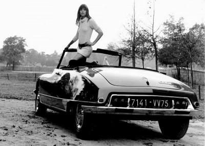 CITROËN DS jane birkin top model style icon 60s actress descapotable icono de los sesenta cantante modelo actriz