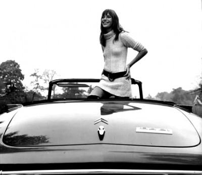 CITROeN tiburon jane birkin top model style icon 60s actress descapotable icono de los sesenta cantante modelo actriz