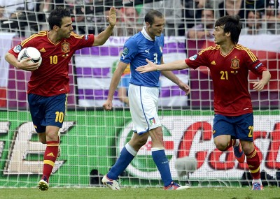 fabegras and silva score at eurocup 2012 final game