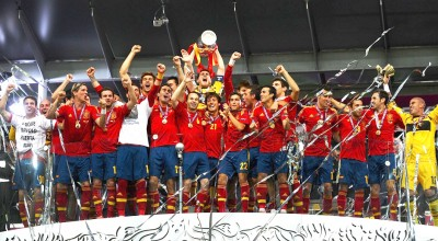 Spain v Italy - UEFA EURO 2012 Final celebration