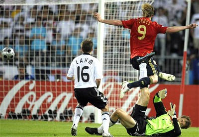 torres scores for spain 2008 eurocup final game