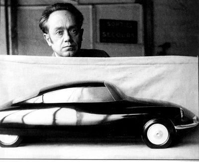 Una delle prime maquette della vettura DS presentata da Flaminio Bertoni