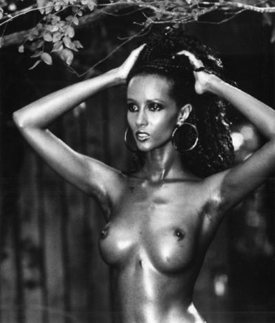 Peter Beard top model iman in topless