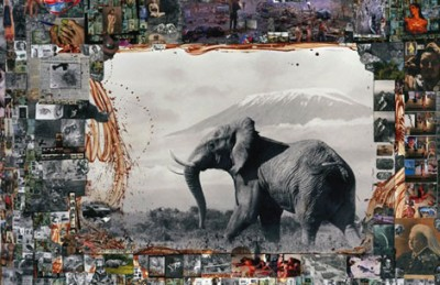 peter beard,africa,art,collage,