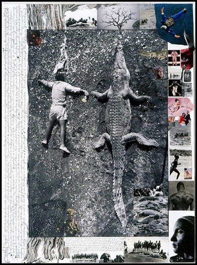 Peter Beard collage huge alligator