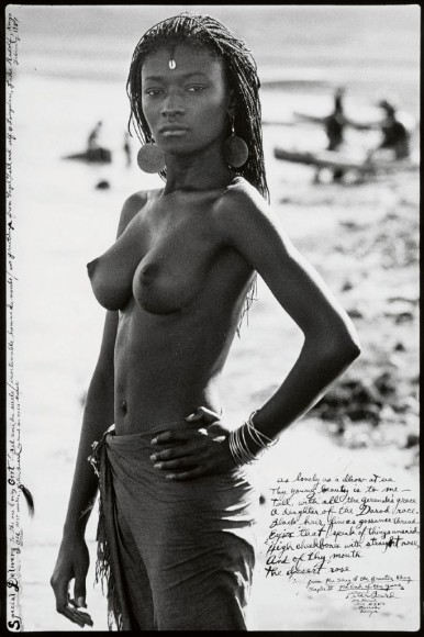 topless tribe woman by Peter Beard