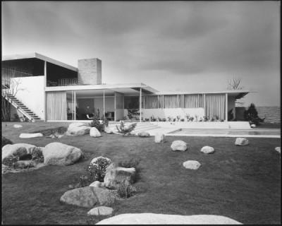 richard neutra architect kaufman house side view